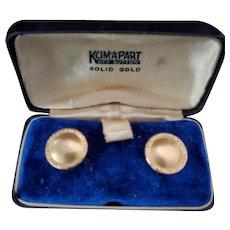 10k Gold Kum-A-Part Kuff Buttons Cufflinks
