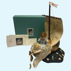 R. John Wright Wynken, Blynken & Nod Dolls - Original Box - see details