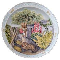 Beatrix Potter - Round that Corner - Tale of Peter Rabbit & Benjamin Bunny  Music Box Plate - Bradford Exchange
