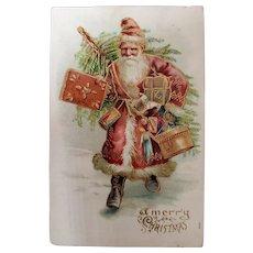 Antique Santa Postcard c. 1905 - German Postkarte