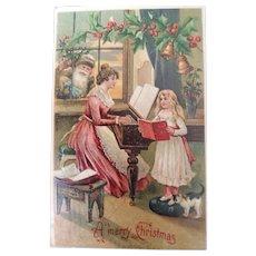 German Santa Postcard 1908
