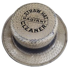 Radiant Straw Hat Cleaner Advertising Tin