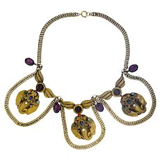 Magnificent and Iconic Joseff of Hollywood Elephant Festoon Necklace