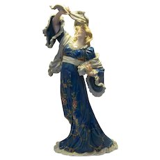 German Muller Art Nouveau Porcelain Lady Figurine