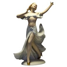 Wallendorf Porcelain Lady Figurine Flamenco Dancer