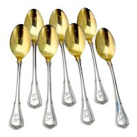 Villa Norfolk Demitasse Spoons Set Gorham Sterling Silver 1903 Mono