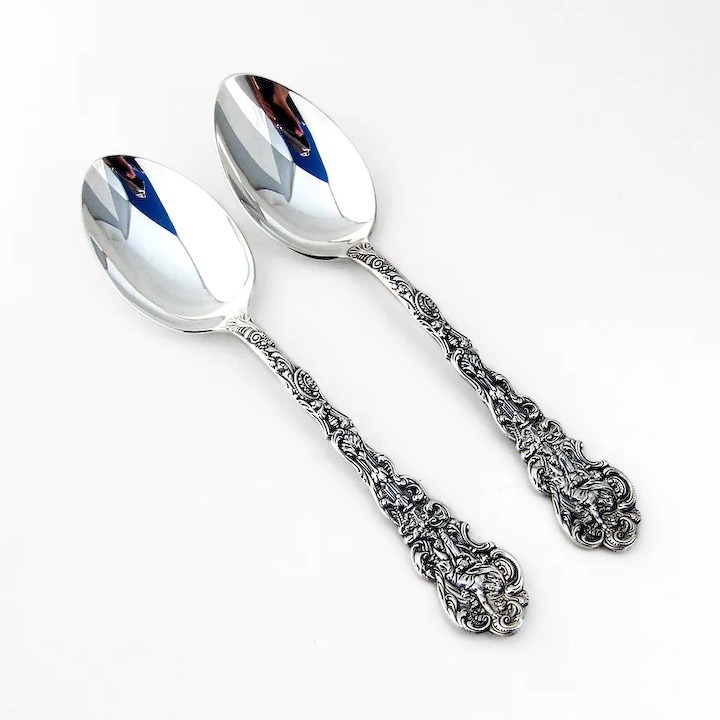 """7-1//8/"""" NO MONO Gorham Versailles Sterling Silver Oval Soup Spoon"""