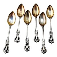 Towle Old Colonial 6 Demitasse Spoons Set Sterling Silver 1895