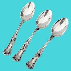 Buttercup Place Soup Spoons Set Gorham Sterling Pat 1900 Mono
