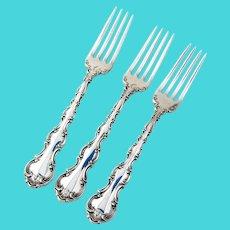 Strasbourg Regular Forks Set Gorham Sterling Silver Pat 1897