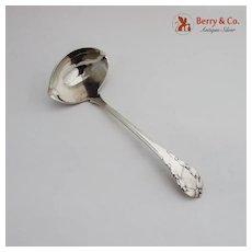 Lily Of The Valley Gravy Ladle Georg Jensen Sterling Silver Denmark