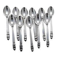 "Antique VTG 1933-1944 Georg Jensen Acorn Sterling Silver Cream Soup Spoon 6 3//8/"""