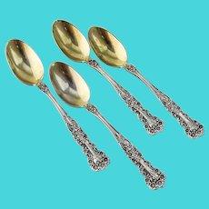 Buttercup Demitasse Spoons Set Gorham Sterling Silver 1900 Mono C