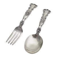 Buttercup Baby Set Gorham Sterling Silver 1899 No Mono