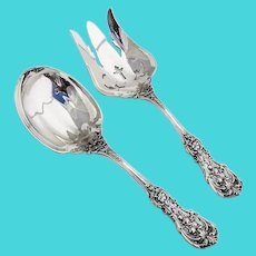 Francis I Salad Serving Set Reed Barton Sterling Silver 1907 Old Mark