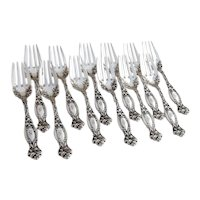 Frontenac 12 Salad Forks Set International Sterling Silver Pat 1903 Mono S