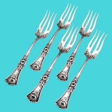 Grenoble Gloria Salad Forks Set William Rogers Silverplate Pat 1906