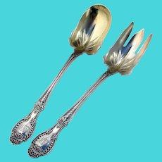 Tiffany Richelieu Salad Serving Set Sterling Silver Pat 1892 Mono DDW