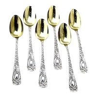 Earle Demitasse Spoons Set Frank Smith Sterling Silver 1890 Mono MB