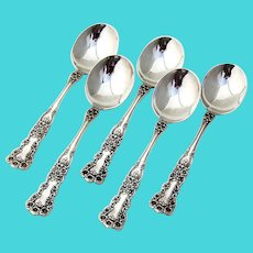 Buttercup Chocolate Spoons Set Gorham Sterling Silver Pat 1900
