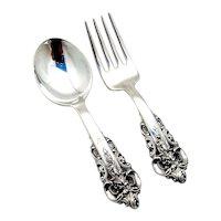 Wallace Grande Baroque Baby Flatware Set Sterling Silver
