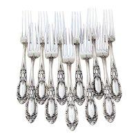 King Richard 11 Regular Forks Set Towle Sterling Silver 1932