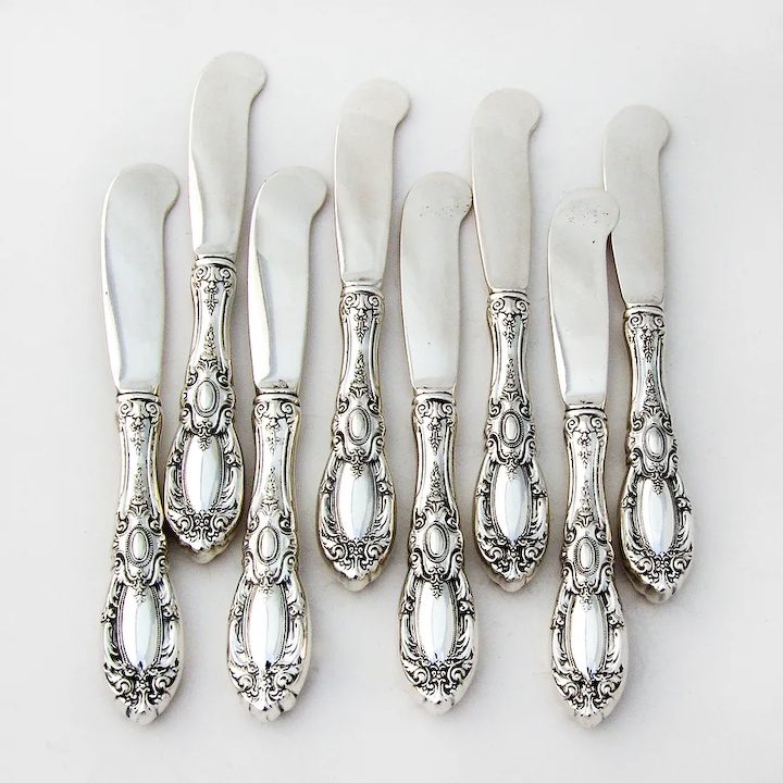 King Richard by Towle ALL Sterling Silver Butter Spreader Paddle Blade
