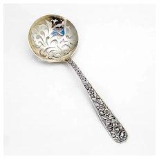 Repousse Pea Spoon Kirk Son Sterling Silver Mono