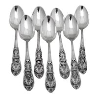 Richelieu 7 Teaspoons Set International Sterling Silver 1935 No Mono