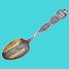 Alaskan Totem Pole Souvenir Spoon Steamer Spokane Mayer Sterling Silver