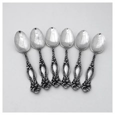 Frontenac 6 Four O Clock Spoons Set International Sterling Silver 1903