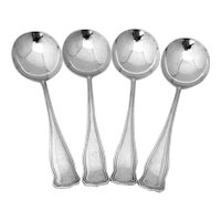 Winchester Gumbo Soup Spoons Set Shreve Sterling Silver Pat 1909