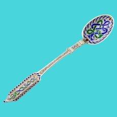 Celtic Snake Motif Enamel Coffee Spoon Sterling Silver Denmark