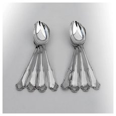 Buccellati Savoy 8 Dessert Oval Soup Spoons Set Sterling Silver Italy