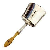 English Tea Caddy Shovel Samuel Pemberton Sterling 1808 Mono HN