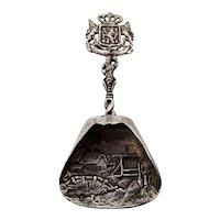 Dutch Ornate Figural Tea Caddy Spoon 13 Loth Silver