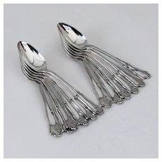 Buccellati Savoy 12 Teaspoons Set Sterling Silver Italy