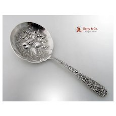 Repousse Candy Spoon Kirk And Son Sterling Silver 1895-1950