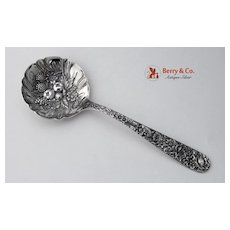 Large Berry Spoon Repousse Sterling Silver Kirk and Son