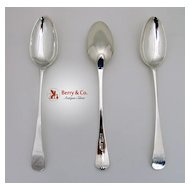 Newcastle Sterling Silver 3 Serving Spoons 1815