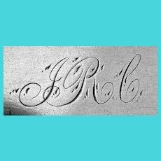 Clayton Coin Silver Tablespoon Cincinnati OH 1850