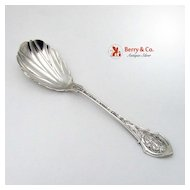 Angelo Sugar Shell Spoon Wood and Hughes Sterling Silver 1878