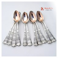 Luxembourg Set of 11 Demitasse Spoons Shiebler Sterling Silver 1885