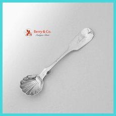 Coin Silver Salt Spoon Star S Eagle Mark