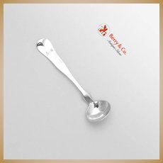 Swelling Fiddle Salt Spoon E B Horn Boston 1850 Coin Silver FM