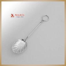 Sugar Spoon Shell Bowl Twist Handle Sterling Silver Gorham 1900