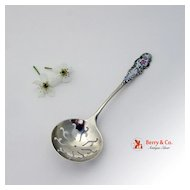 Baroque Scroll and Floral Sugar Sifter Sterling Silver R.Blackinton and Co