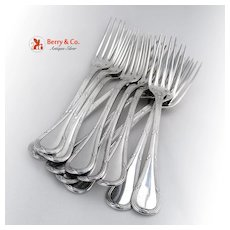 Bougainville Set of 12 Dinner Forks Sterling Silver Puiforcat