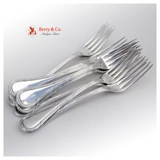 Bougainville Set of 9 Dinner Forks Sterling Silver Puiforcat