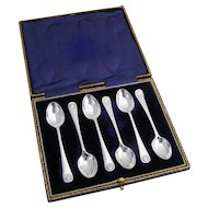 Shell Coffee Spoons Sheffield Hutton 1911 Sterling Silver